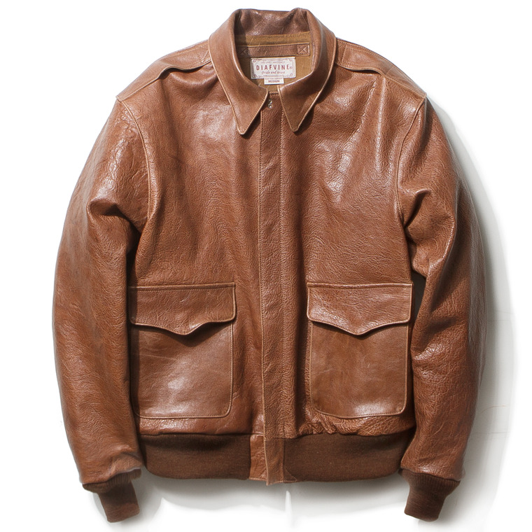 "DV. LOT459 TYPE A-2 ""KIRK"" (HORSEHIDE) -WALNUT-"