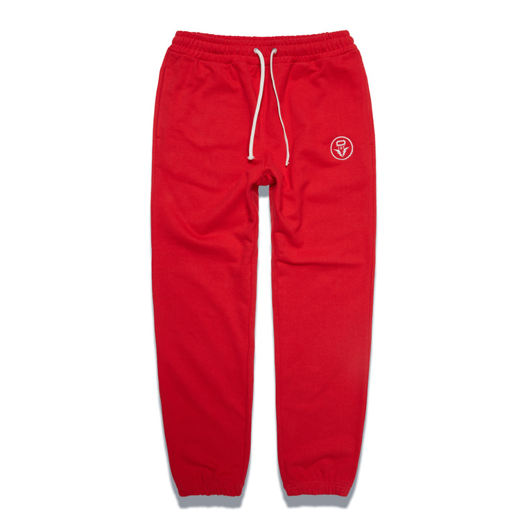 DV. LOT548 HEAVY WEIGHT SWEAT PANTS -RED-