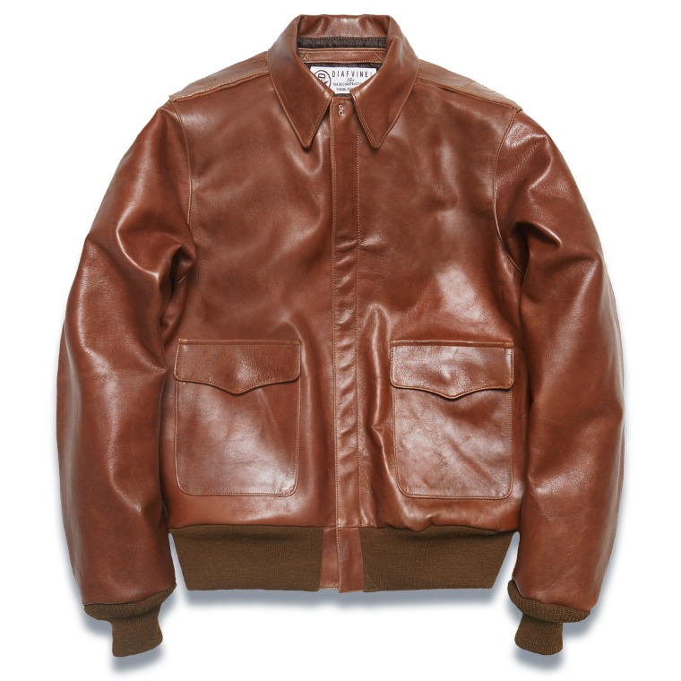 "DV. LOT568 TYPE A-2 ""KIRK"" (HORSEHIDE) -RED BROWN-"