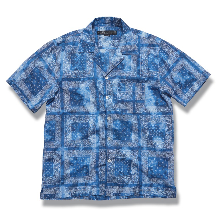 DV. LOT610 Paisley Open Collar Shirts (Tie-Dye) -BLUE-