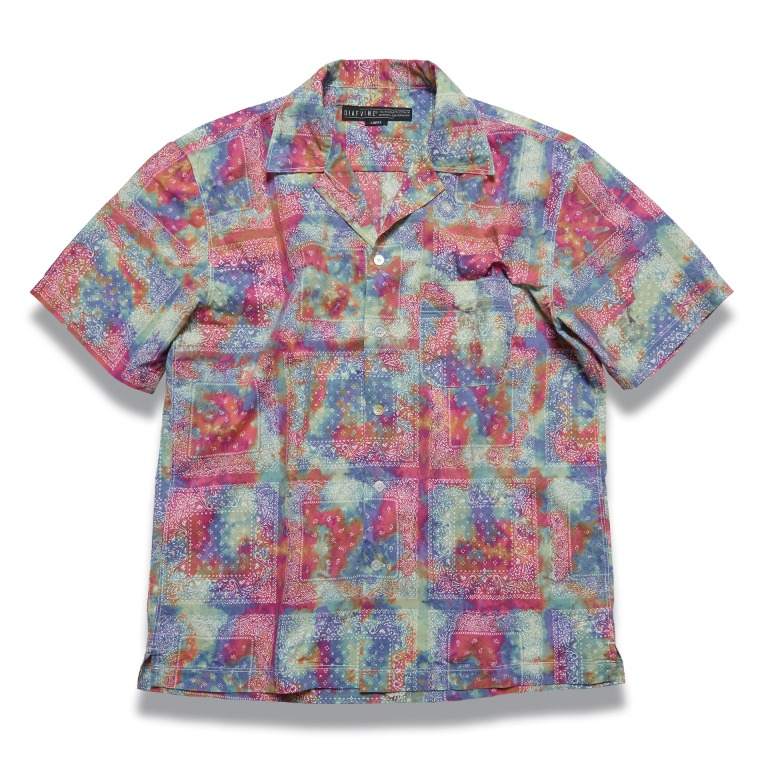 DV. LOT610 Paisley Open Collar Shirts (Tie-Dye) -MULTI-