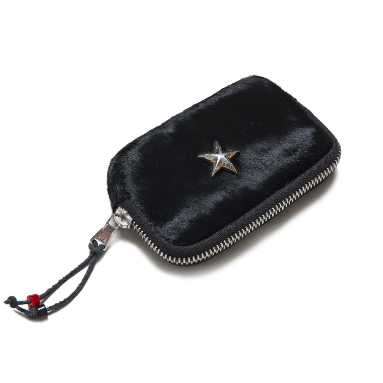 DV. LOT 621 Horsehair Mini Card Pouch -BLACK-